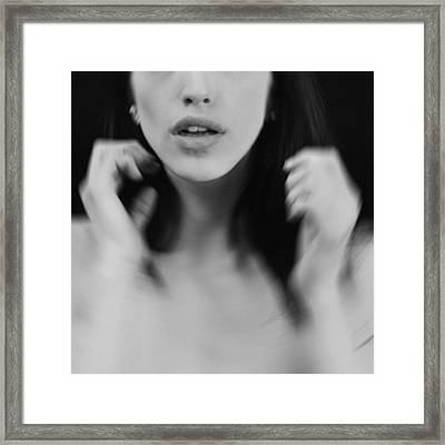 Gasp Framed Print by Mayumi Yoshimaru