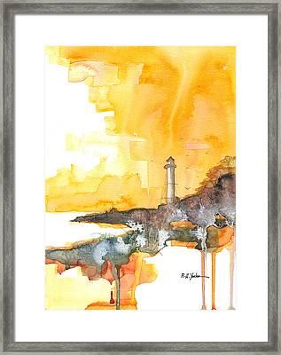 Gasparilla Coast Guard Light Framed Print