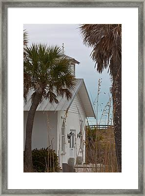 Framed Print featuring the photograph Gasparilla Island State Park Chapel by Ed Gleichman