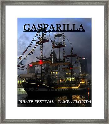 Gasparilla Ship Print Work C Framed Print by David Lee Thompson
