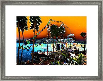 Gasparilla Sunset Framed Print by David Lee Thompson