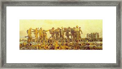 Gassed Framed Print by Pg Reproductions
