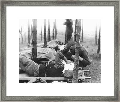 Gassed Soldier Framed Print