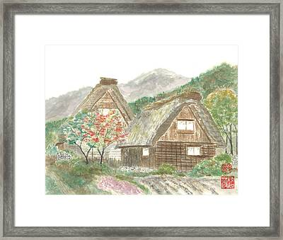 Gassho-zukuri Home Framed Print