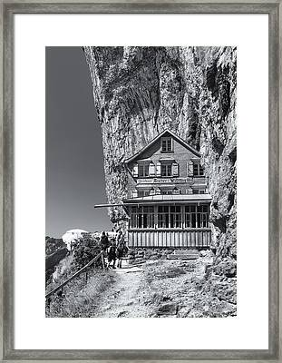 Gasthaus Aescheron Ebenalp Framed Print