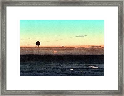 Gaston Tissandier's Balloon Silhouette Framed Print by Universal History Archive/uig