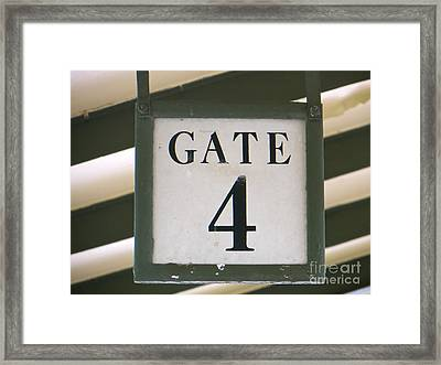 Gate #4 Framed Print by Joy Hardee