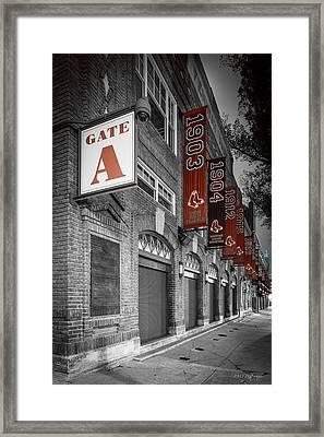 Gate A Framed Print by Paul Treseler