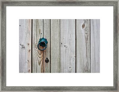Gate Handle Framed Print