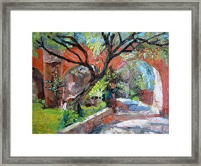 Gate Framed Print by Jiemin g Wang