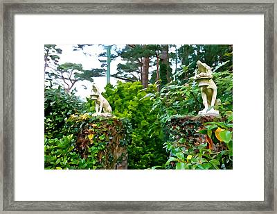 Gate Keepers Framed Print by Charlie and Norma Brock