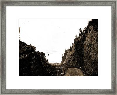 Gate Of Crawford Notch From Below, White Mountains Framed Print