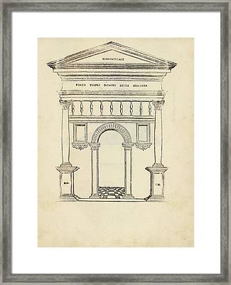 Gate Of The Temple Of Jerusalem Framed Print by Library Of Congress