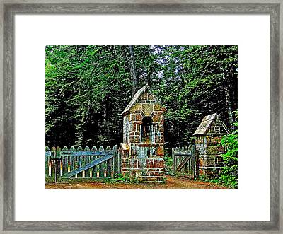 Gate To Carriage Road In Acadia National Park-maine Framed Print by Ruth Hager