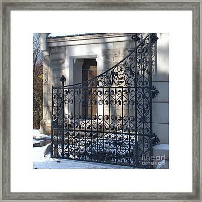 Gate To Cedar Hill Framed Print by Marcel  J Goetz  Sr