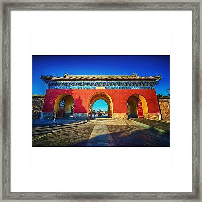 Gate To Imperial Walkway In Temple Of Framed Print
