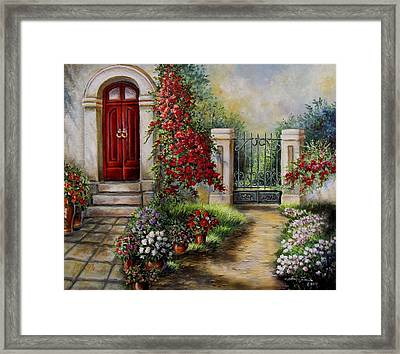 Gate To The Hidden Garden  Framed Print