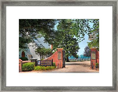Gate To Trinity Church Framed Print by Steven Ainsworth