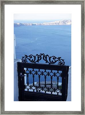 Gated Caldera Framed Print