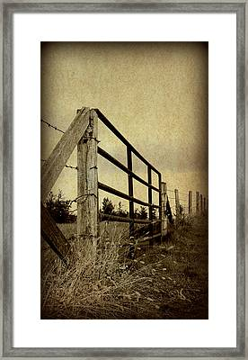 Gated Field Framed Print