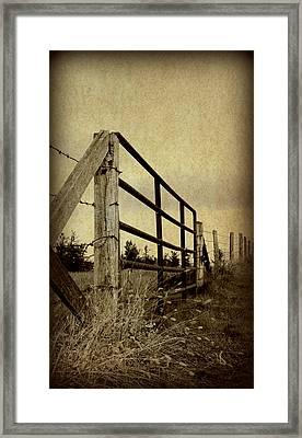 Gated Field Framed Print by Kelly Nowak