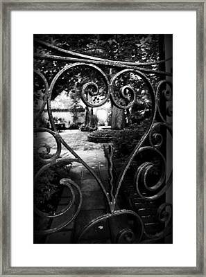 Gated Heart Framed Print