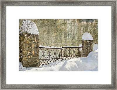Gated In The Snow Framed Print