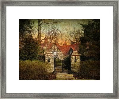 Gated Framed Print by Jessica Jenney