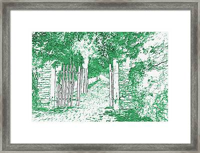 Gated Path Framed Print by L Wright
