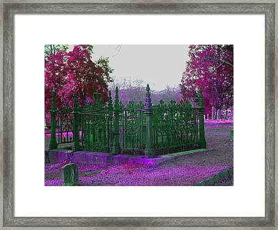 Framed Print featuring the photograph Gated Tomb by Cleaster Cotton