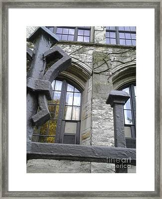 Gates And Windows Framed Print