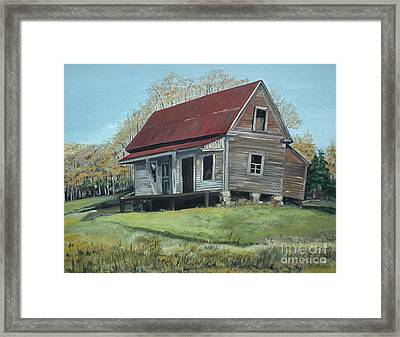 Gates Chapel - Ellijay Ga - Old Homestead Framed Print by Jan Dappen