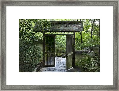 Gates Of Tranquility Framed Print