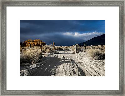 Gate's Open Framed Print by Cat Connor