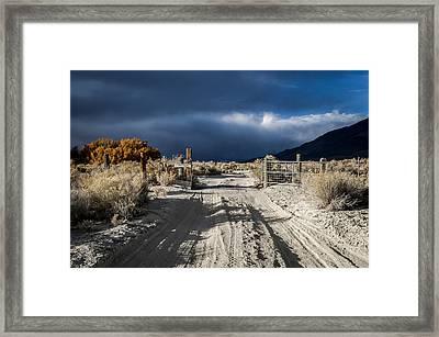 Gate's Open Framed Print
