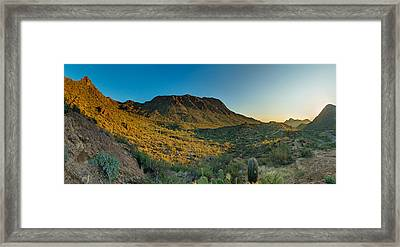 Gates Pass Sunrise Framed Print