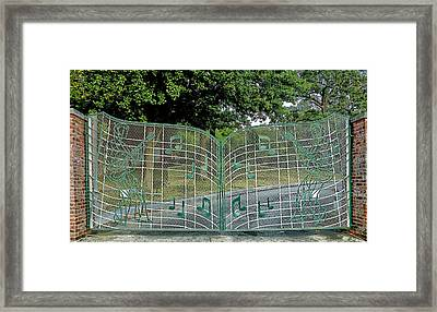 Gates To Graceland Framed Print by Mountain Dreams