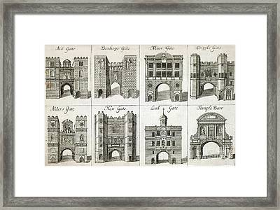 Gates To The City Of London, Artwork Framed Print by British Library