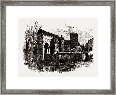 Gateway And Bridge, Waltham Abbey, Uk Framed Print