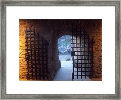 Gateway And Portcullis Framed Print