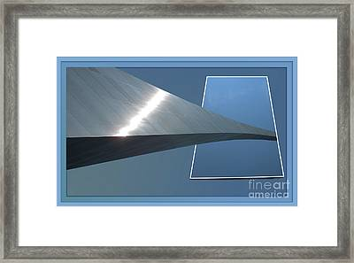 Gateway Arch St Louis 06 Framed Print by Thomas Woolworth