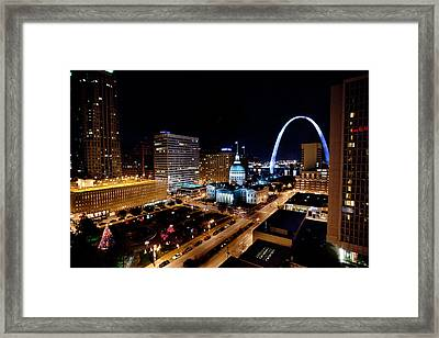 Gateway Arch St Louis Night Framed Print