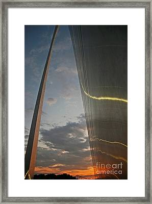Gateway Arch Sunrise Framed Print