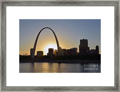 Gateway Arch Sunset Framed Print