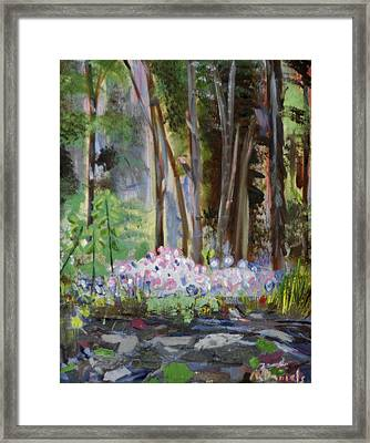 Framed Print featuring the painting Gateway At The Balsams by Michael Daniels