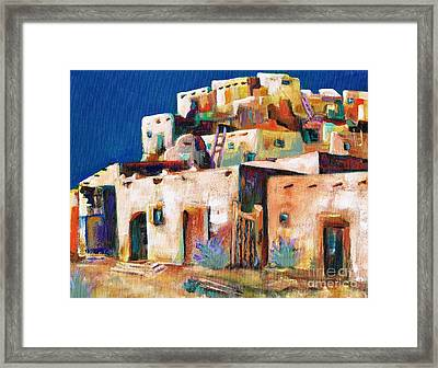 Gateway Into  The  Pueblo Framed Print by Frances Marino