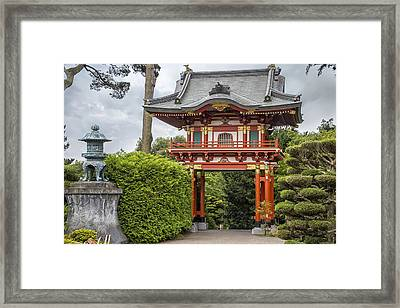 Gateway - Japanese Tea Garden - Golden Gate Park Framed Print by Adam Romanowicz