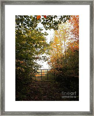 Gateway Framed Print by Linda Marcille