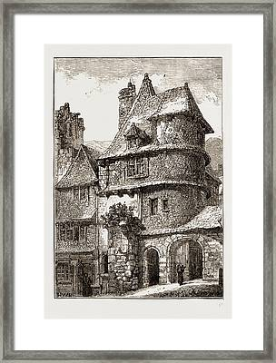 Gateway Near The Jacobin Church, Morlaix Framed Print by Litz Collection