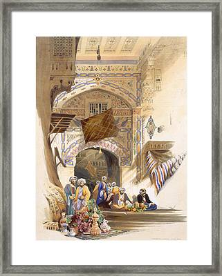 Gateway Of A Bazaar, Grand Cairo, Pub Framed Print by A. Margaretta Burr